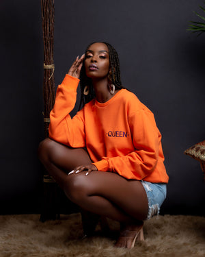 ORANGE QUEEN Sweatshirt Tops ofuure