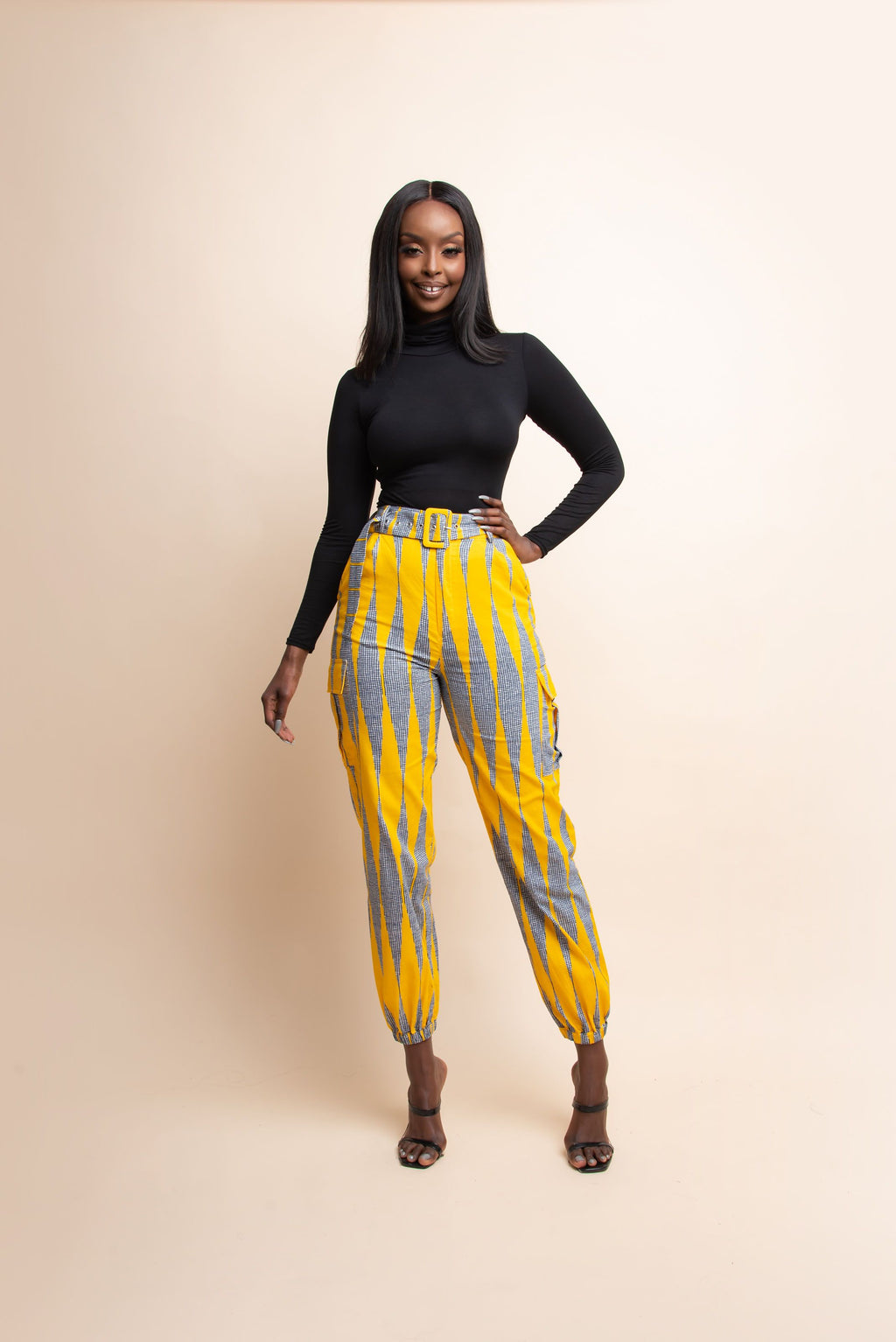 IMADE African Print Cargo pants