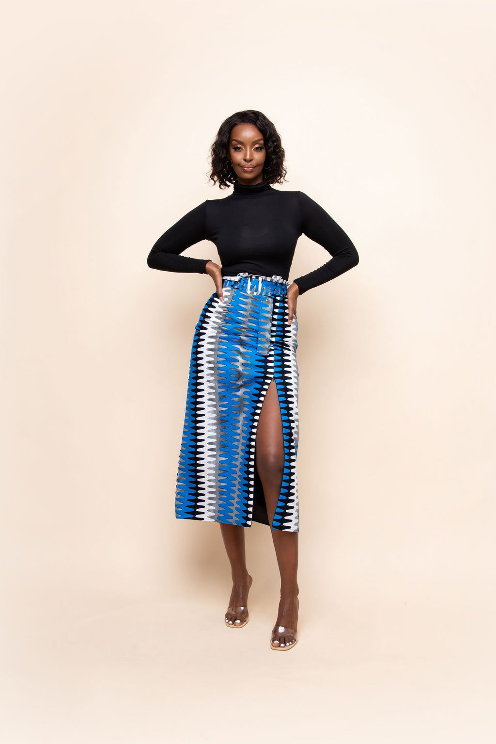 MMA African Print Mid - Maxi Skirt