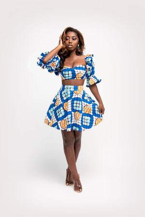 NINI African print crop top