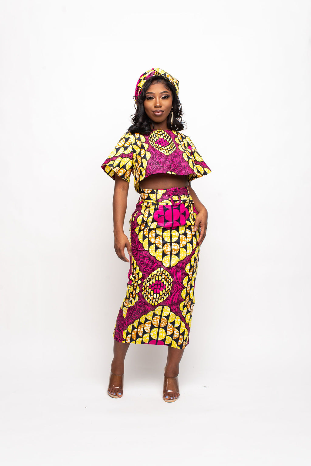 MFON African Print Crop Top (short sleeve)