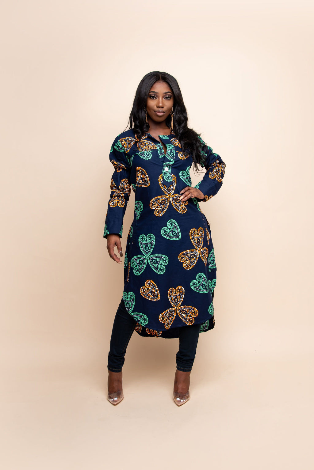 TINUKE African print LONG TOP