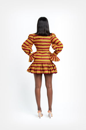 ANAYA African Print Mini Dress Mini Dresses ofuure