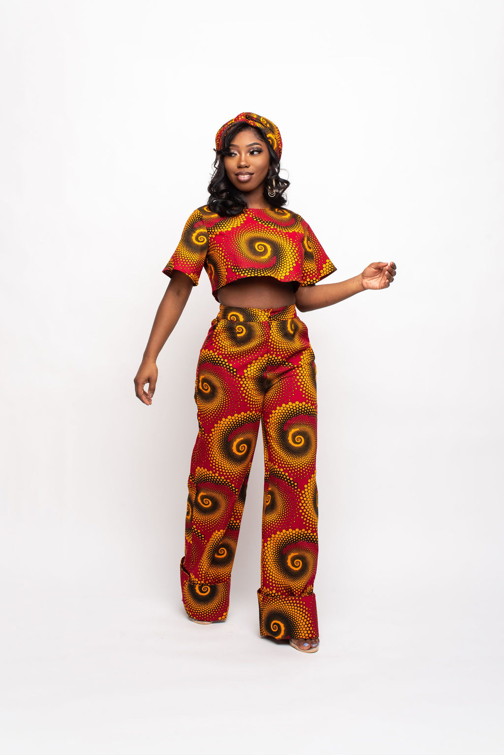 TILEWA African Print Crop Top (short sleeve)