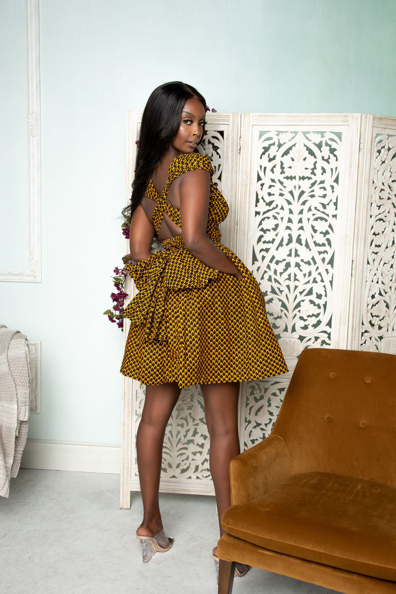 AGBANI African Print Mini Infinity dress mini infinity Dress ofuure