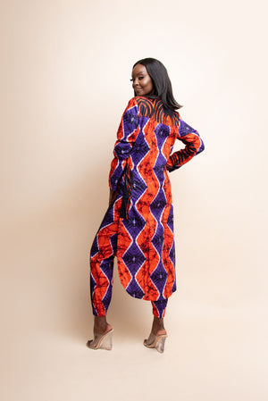 FISAYO African print LONG TOP