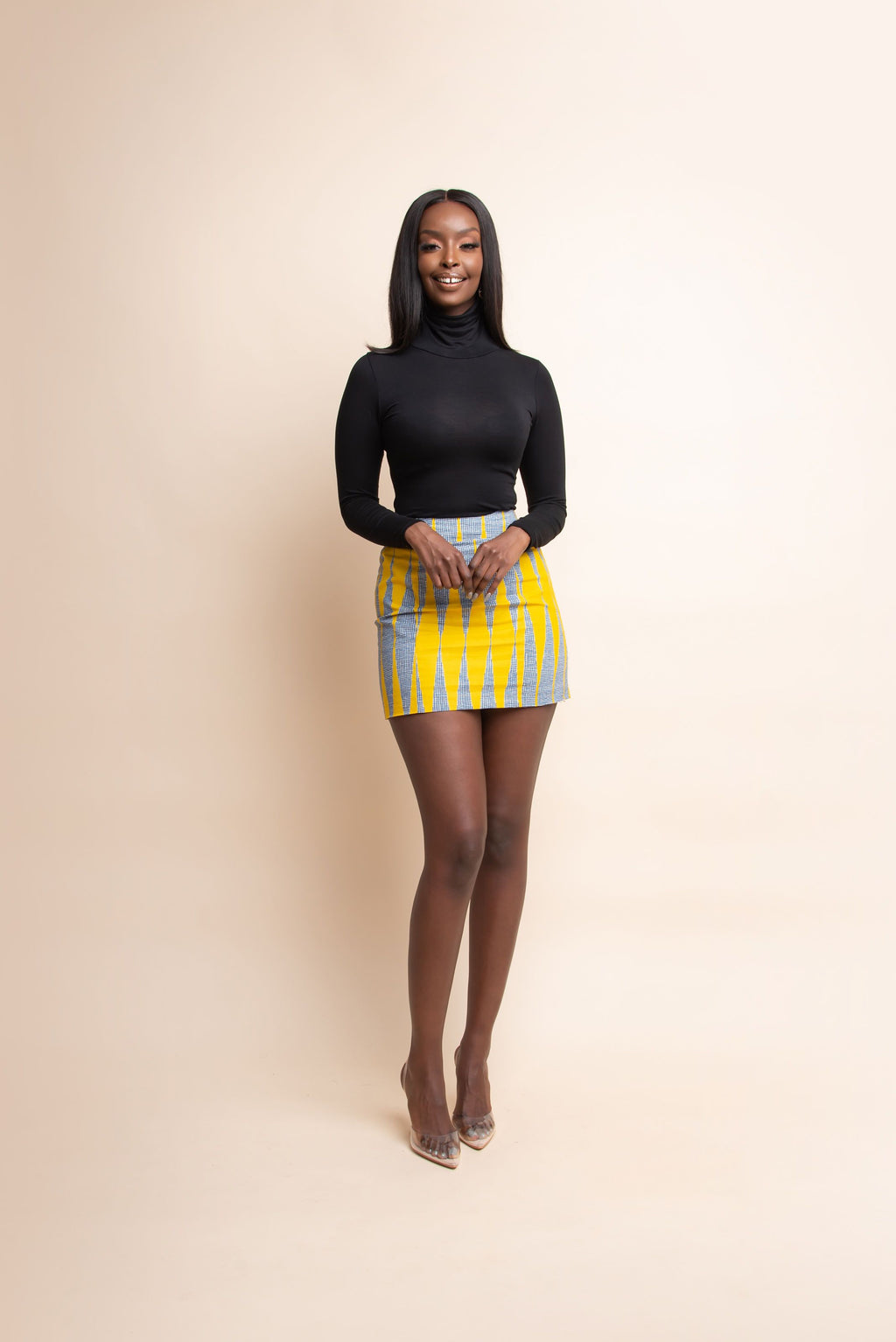 IMADE African Print Mini Skirt