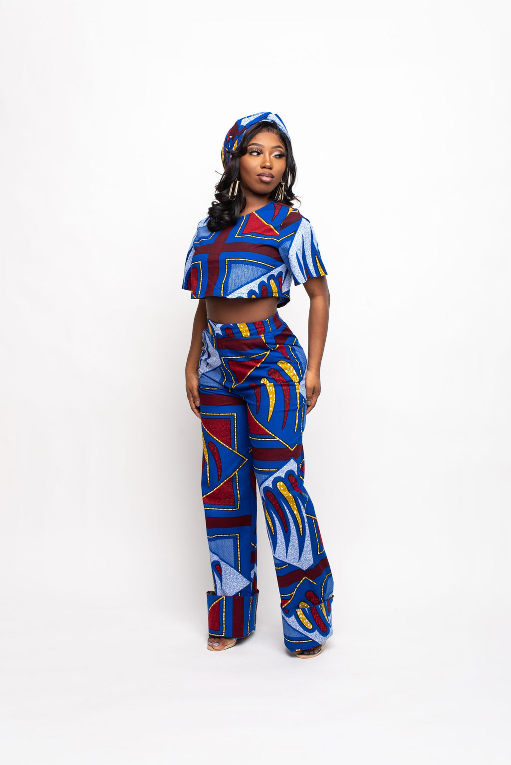 MOTUN African Print Crop Top (short sleeve)