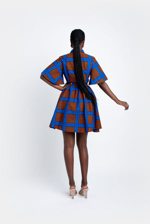 ADEBOLA African Print Shirt Mini Dress Mini Dresses ofuure