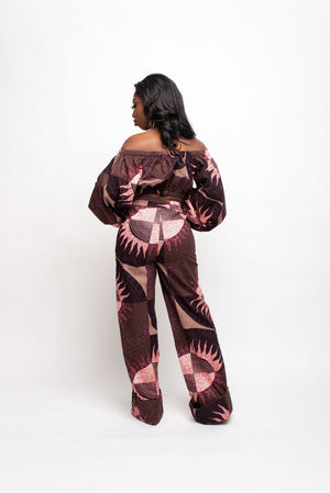 EZE African Print high waist trousers ( 3 LENGTH)