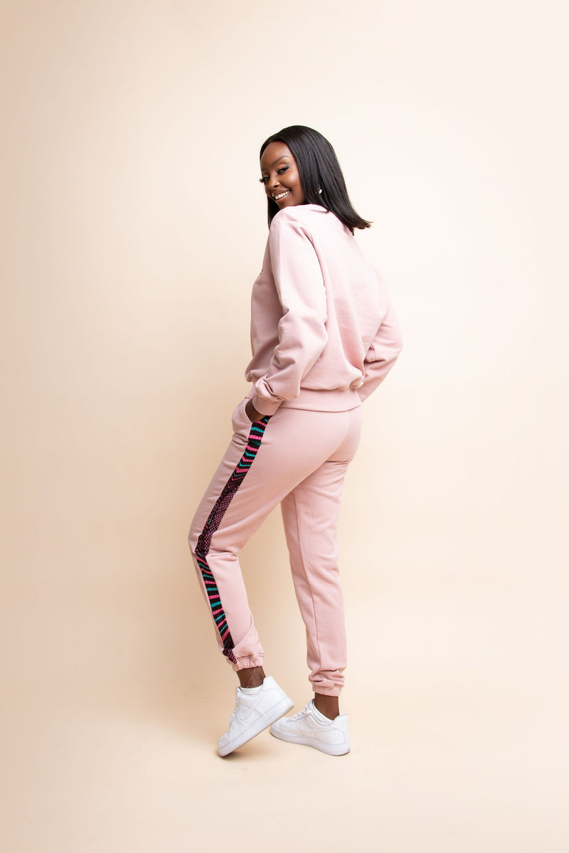 BLUSH PINK QUEEN Jogger Set