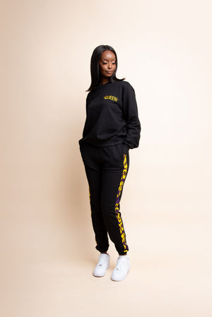 BLACK QUEEN Jogger Set
