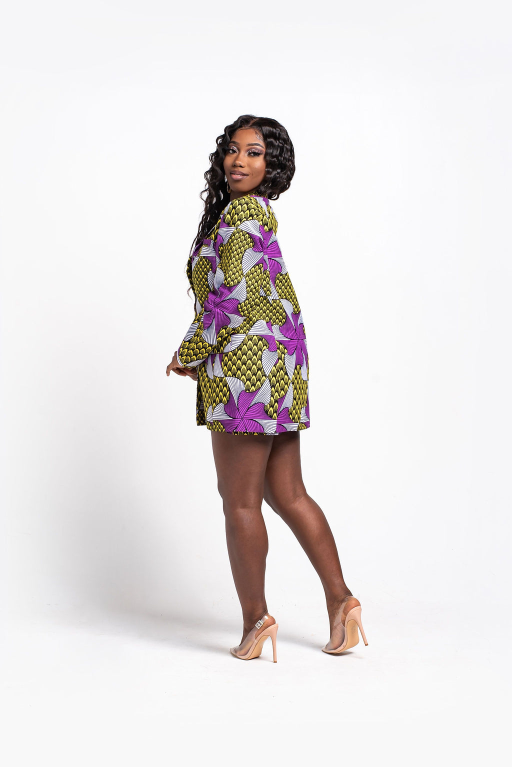 RAMLA African Print Mini Dress
