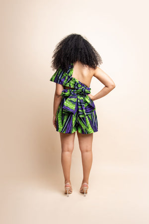 DAWN African print Vest Dress BLAZER ofuure