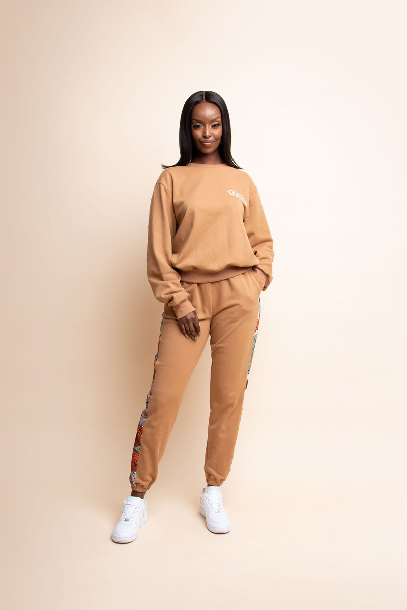 TAN QUEEN Jogger Set