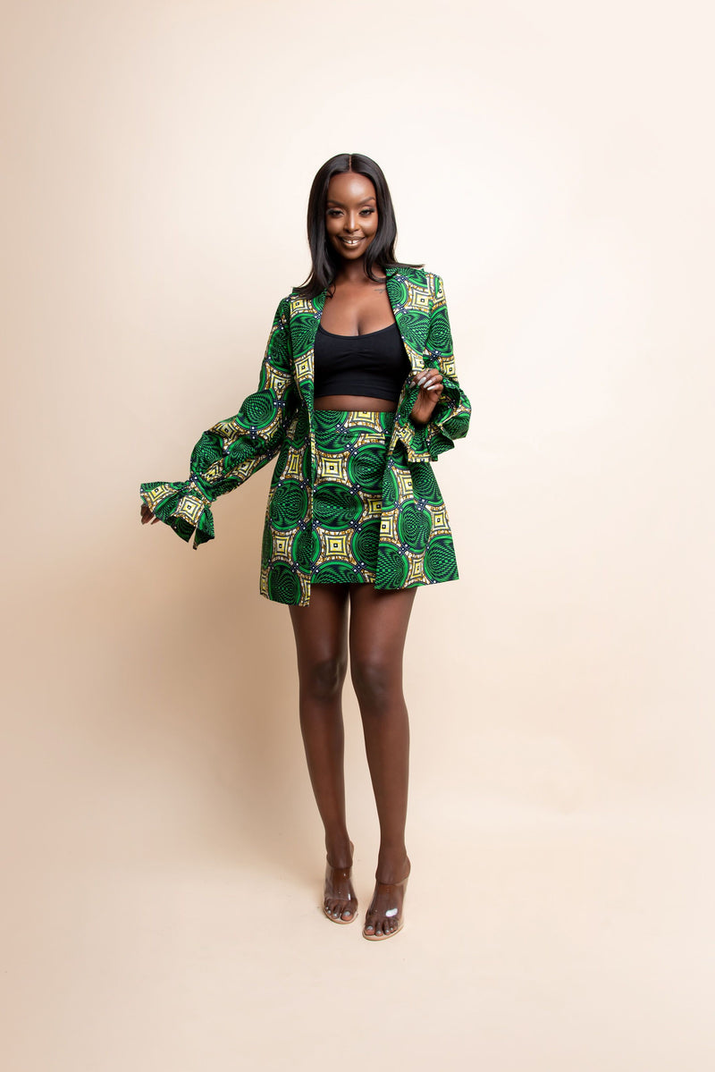 JUN African print BLAZER Dress