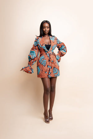 SHIKE African Print Mini Skirt