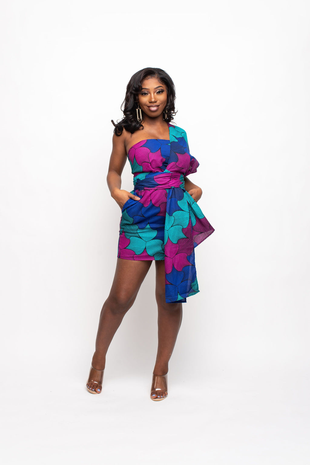 LILY African print infinity romper Infinity jumpsuit ofuure