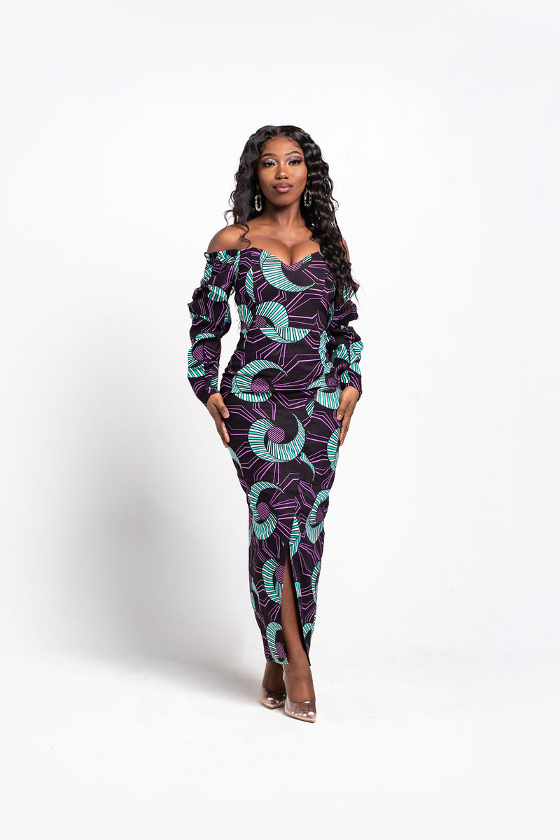 ADWOA African Print Trench Jacket