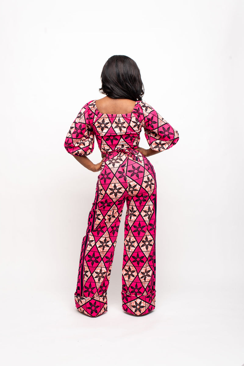 KRYSTLE African Print Trench Jacket