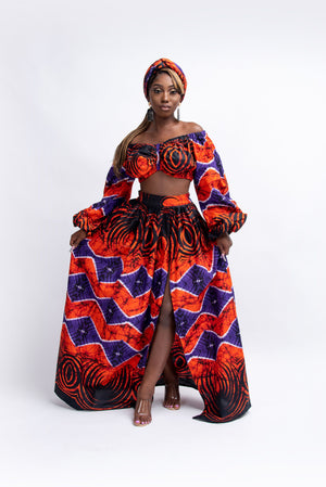 FISAYO African Print Crop Top