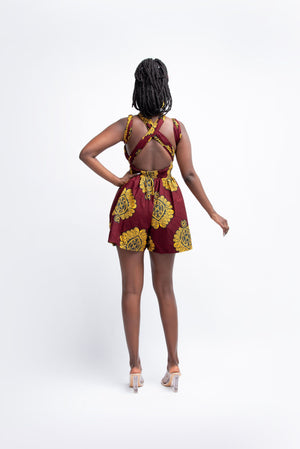 GINA African print infinity romper