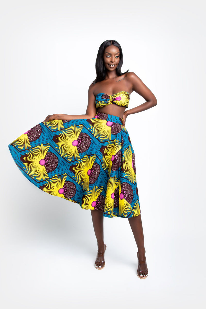 UDUAK African print crop top (BOW DETAIL) crop Tops ofuure