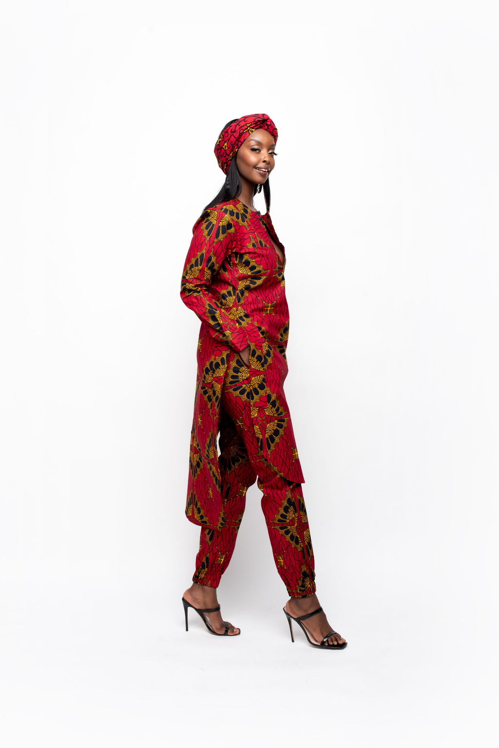 MOTUN African Print Trench Jacket