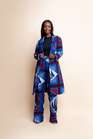 MOTUN African Print high waist trousers ( 3 LENGTH)