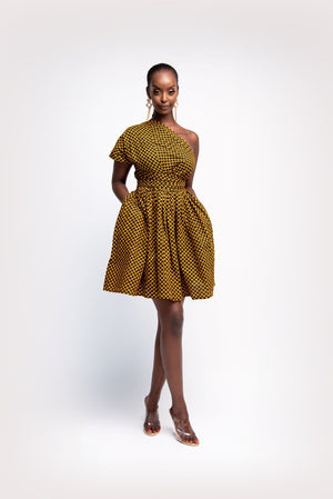 AGBANI African Print Mini Infinity dress