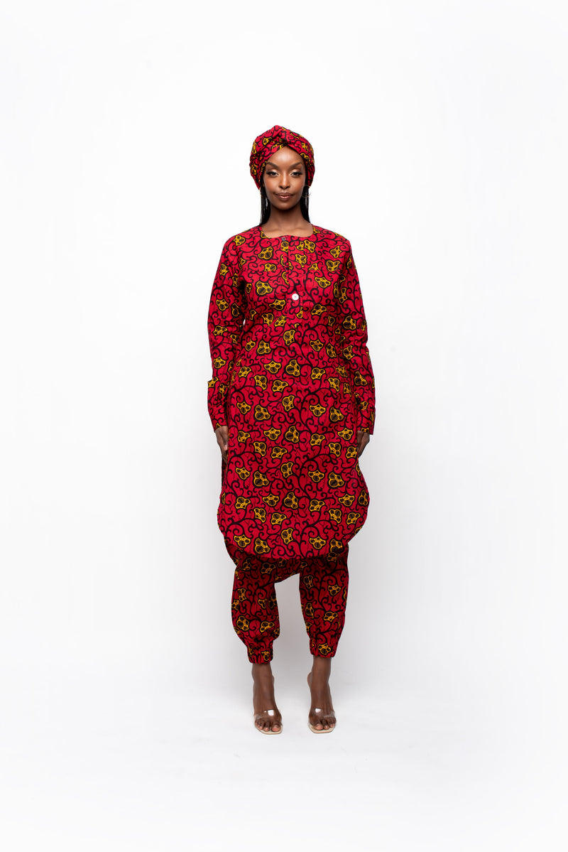 RIRE African Print Off-shoulder Mini Dress