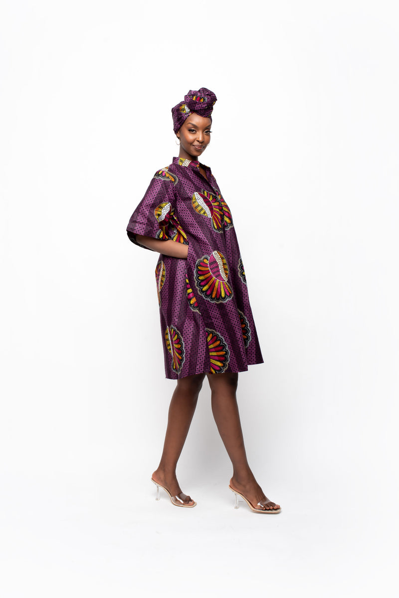 KOJO African Print sleeve QUEEN TOP