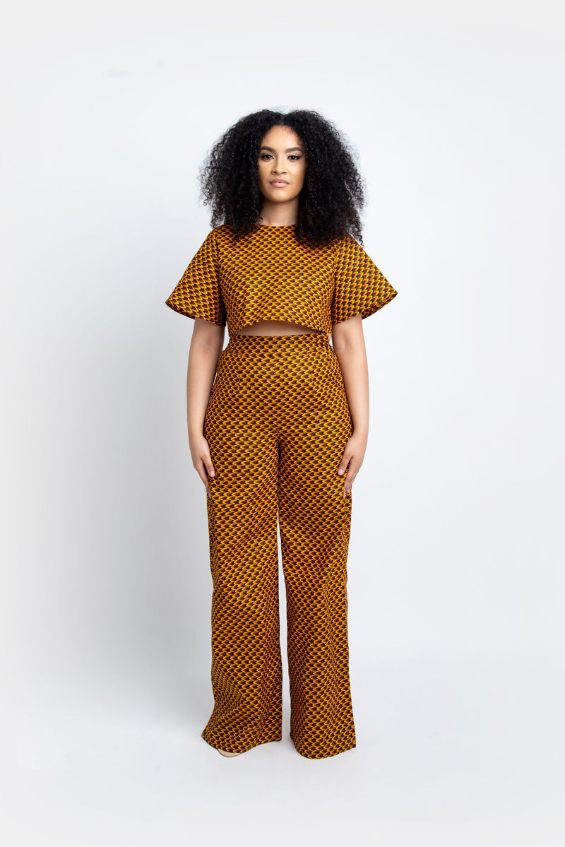 AGBANI African Print high waist trousers trousers ofuure