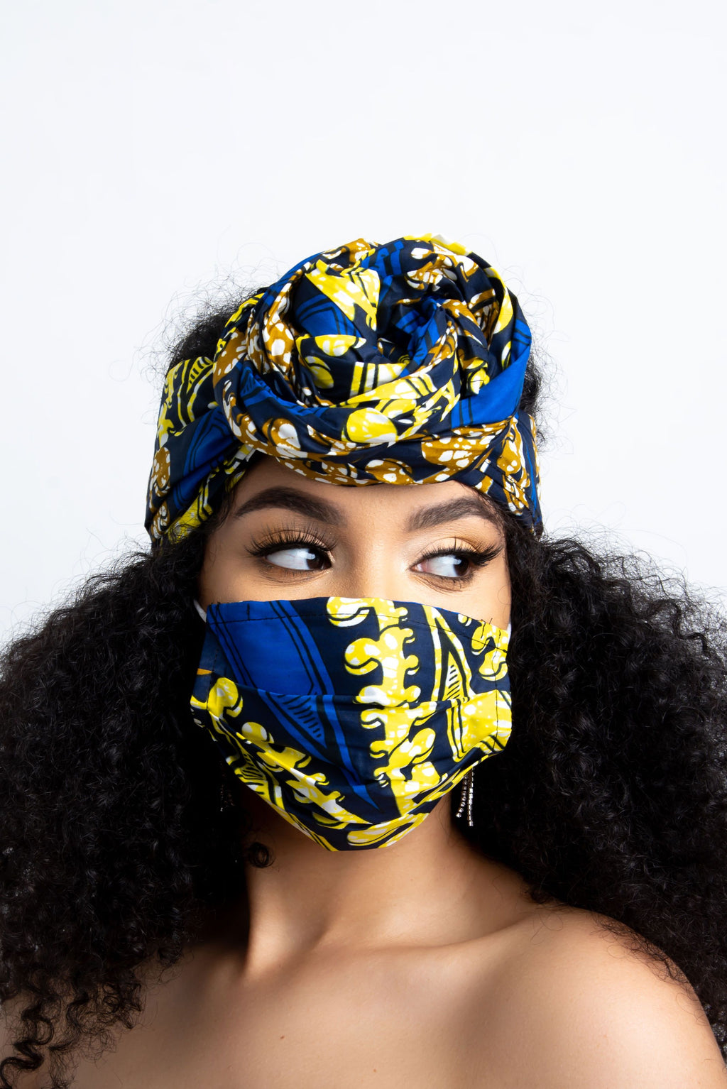 BISI AFRICAN PRINT MASK headwrap ofuure