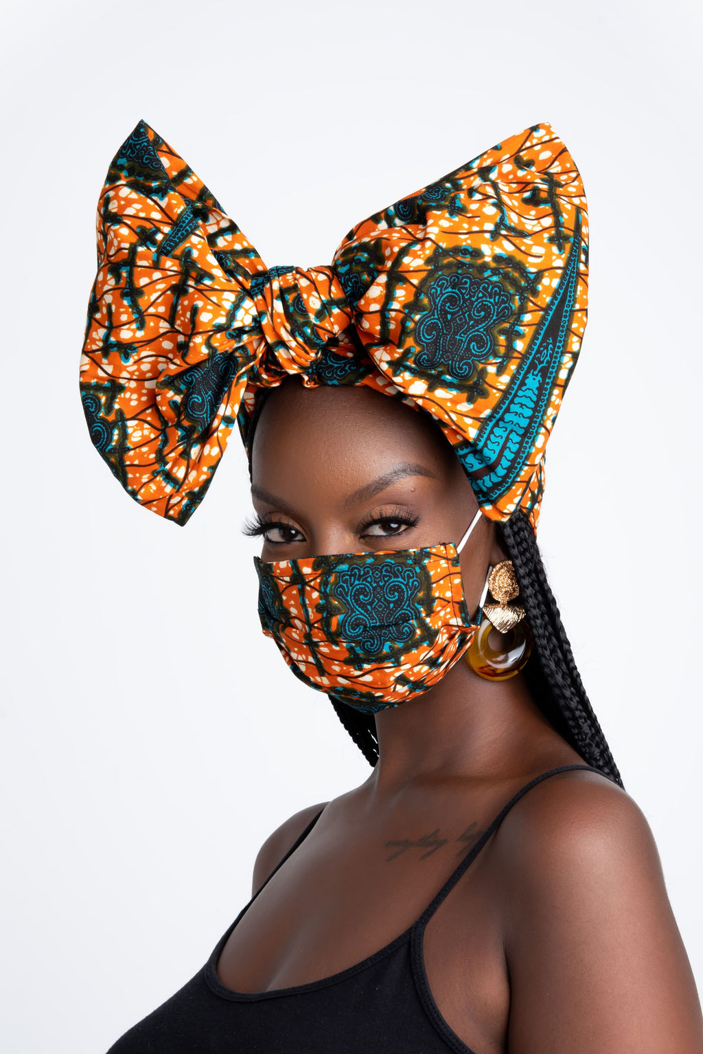 TOPE AFRICAN PRINT MASK headwrap ofuure