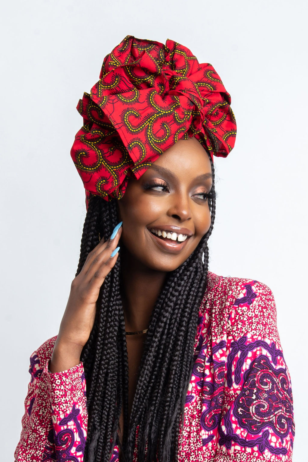 RERE African print head wrap