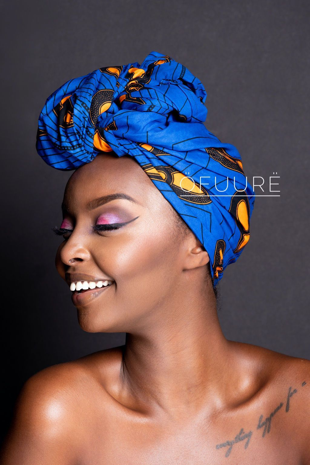 BLUE BULB HEAD WRAP headwrap ofuure