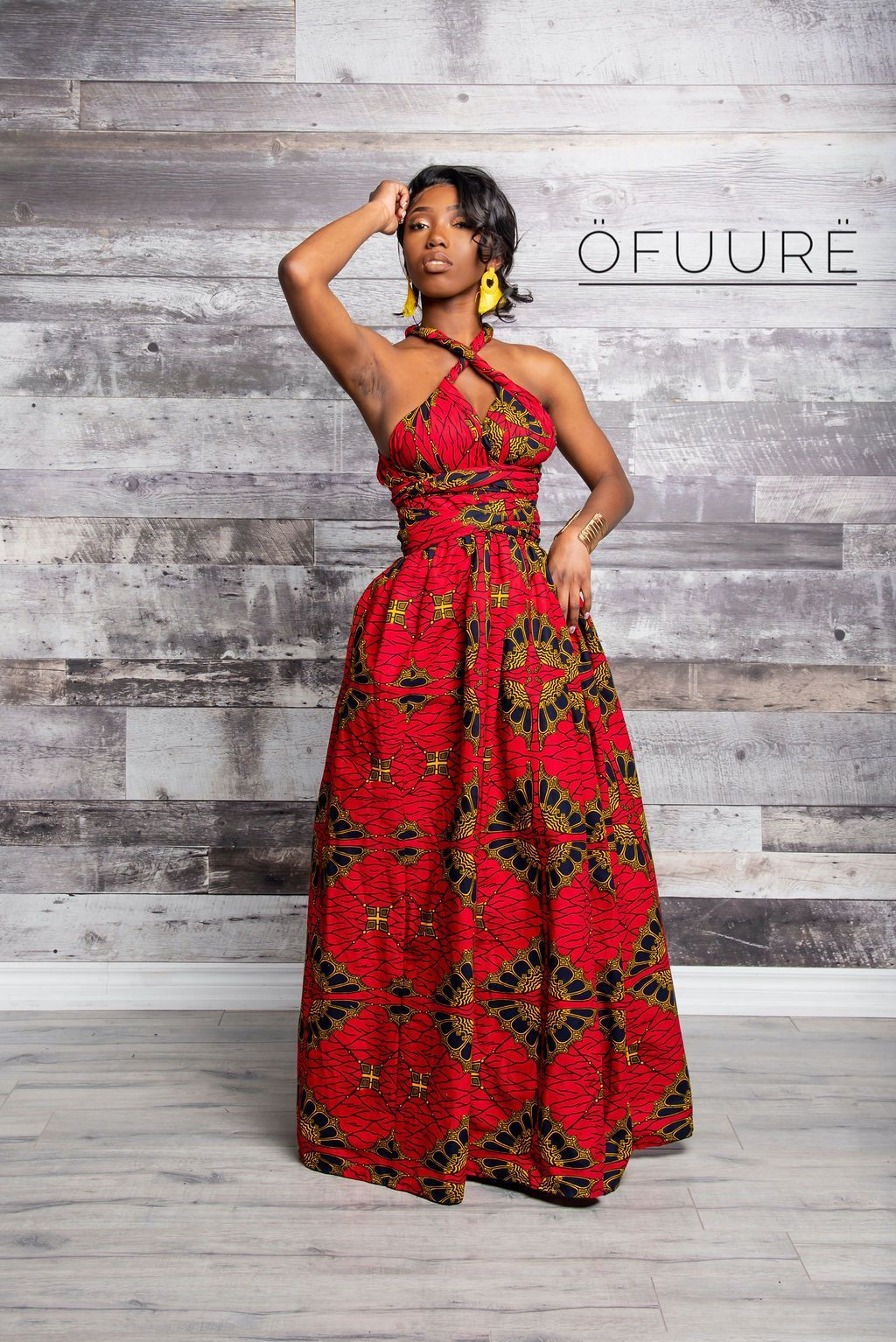 Maxi Infinity IN RED UMBRELLA maxi infinity dress ofuure