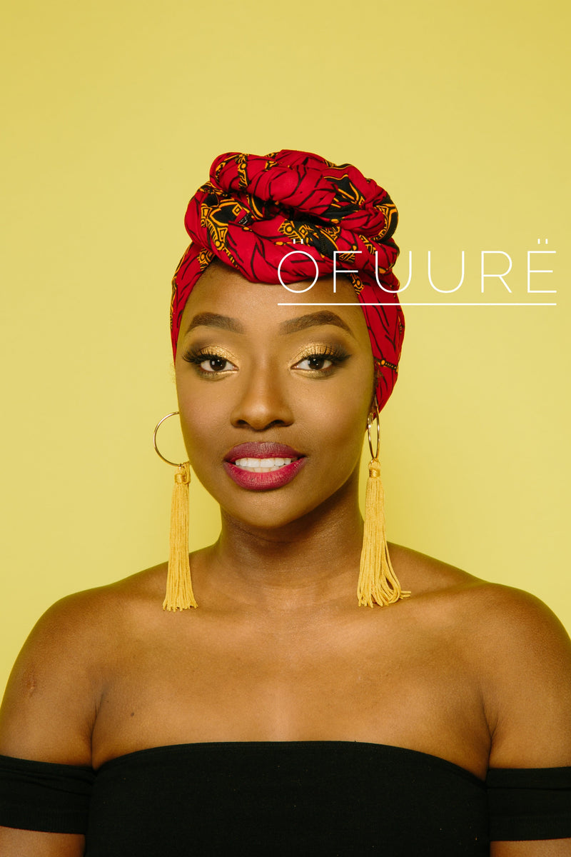 RED UMBRELLA HEAD WRAP headwrap ofuure