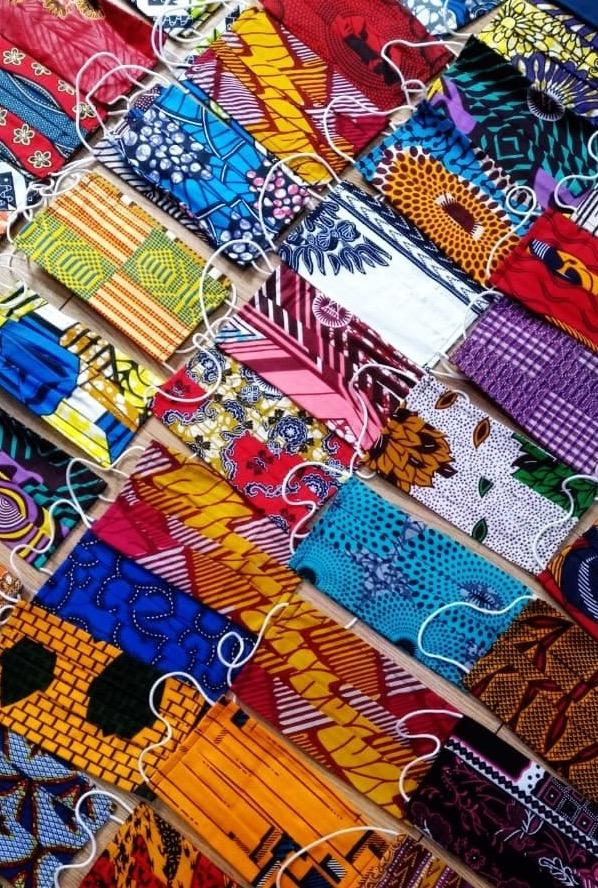 AFRICAN PRINT MASK headwrap ofuure