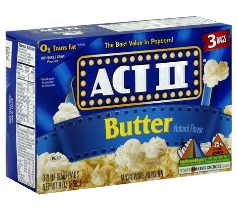 Act II Butter Popcorn, 3 Pack