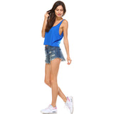 Royal Blue Boxy Crop Tank Top - Lady Tank