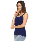 Navy Blue Slouchy Tank Top - Lady Tank