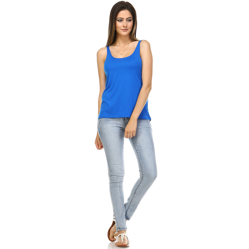 Royal Blue Slouchy Tank Top - Lady Tank