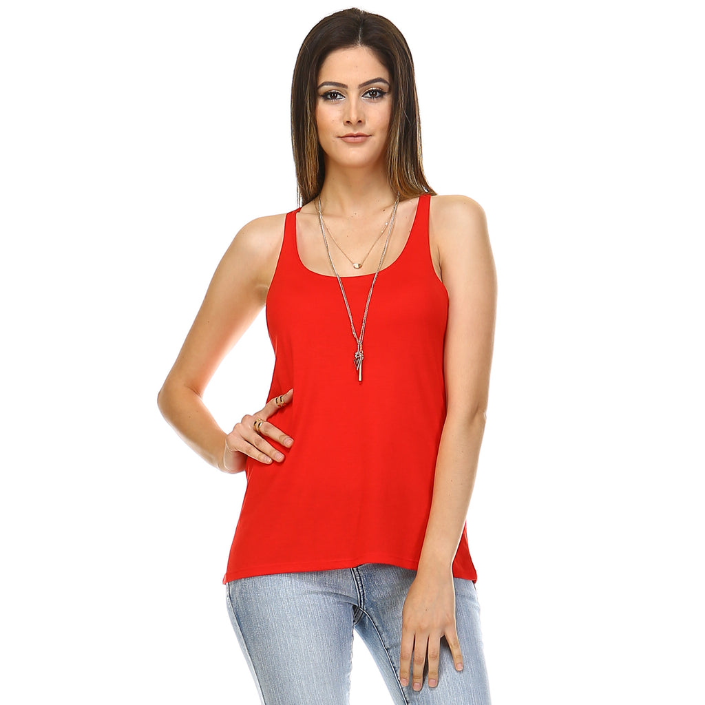 Red Slouchy Tank Top - Lady Tank