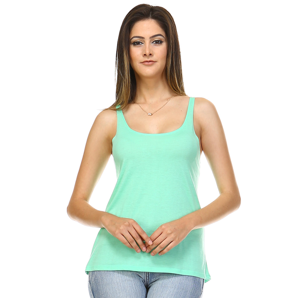 Mint Slouchy Tank Top - Lady Tank
