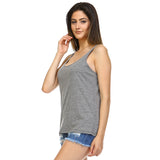 Dark Heather Slouchy Tank Top - Lady Tank