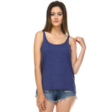 Navy Heather Slouchy Tank Top - Lady Tank