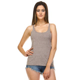 Mocha Heather Slouchy Tank Top - Lady Tank
