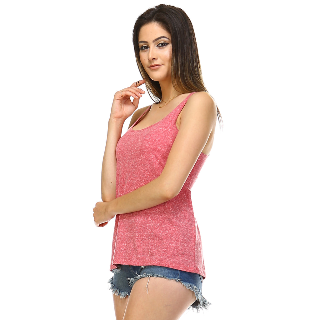 Cranberry Heather Slouchy Tank Top - Lady Tank